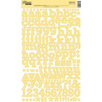 Jillibean Soup - Alphabeans Collection - Alphabet Cardstock Stickers - Mixed Yellow Sunshine