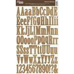 Jillibean Soup - Alphabeans Collection - Alphabet Chipboard Stickers - Burlap