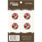 Jillibean Soup - Cool Beans - Wood Buttons - Wood Flower
