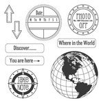 Jillibean Soup - Clear Acrylic Stamps - Travel, CLEARANCE