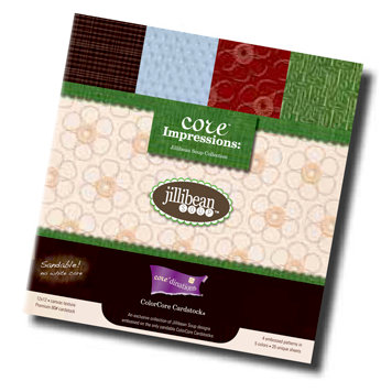 Jillibean Soup - Core'dinations Core Impressions - 12 x 12 Embossed Cardstock Pack