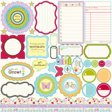 Jillibean Soup - Blossom Soup Collection - Pea Pods - 12 x 12 Die Cut Paper - Shapes