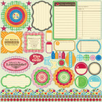 Jillibean Soup - Watermelon Gazpacho Collection - Pea Pods - 12 x 12 Die Cut Paper - Shapes