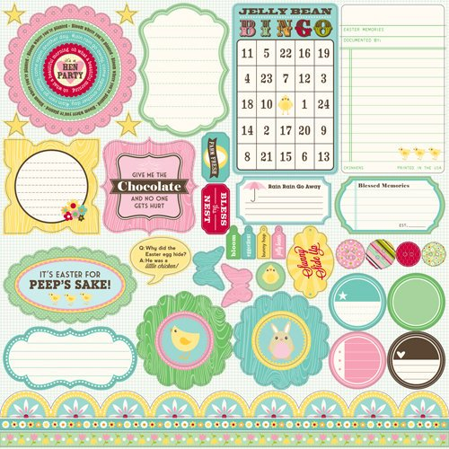 Jillibean Soup - Southern Chicken Dumpling Soup Collection - Pea Pods - 12 x 12 Die Cut Paper - Shapes