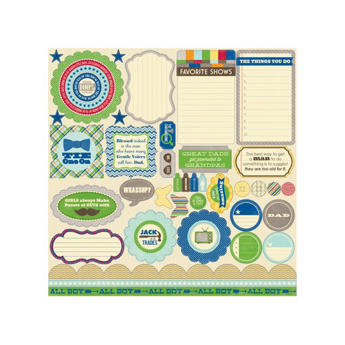 Jillibean Soup - Macho Nacho Soup Collection - Pea Pods - 12 x 12 Die Cut Paper - Shapes