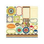 Jillibean Soup - County Pumpkin Chowder Collection - Pea Pods - 12 x 12 Die Cut Paper - Shapes