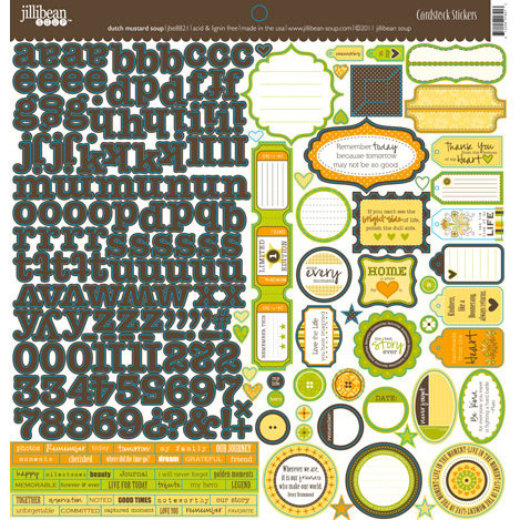 Jillibean Soup - Dutch Mustard Soup Collection - 12 x 12 Cardstock Stickers