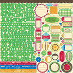 Jillibean Soup - Watermelon Gazpacho Collection - 12 x 12 Cardstock Stickers
