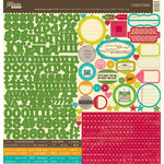 Jillibean Soup - Sweet and Sour Soup Collection - 12 x 12 Cardstock Stickers
