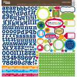 Jillibean Soup - Game Day Chili Collection - 12 x 12 Cardstock Stickers
