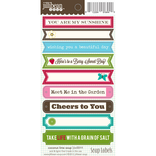 Jillibean Soup - Coconut Lime Soup Collection - Cardstock Stickers - Soup Labels