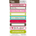 Jillibean Soup - Cardstock Stickers - Soup Labels - Love the