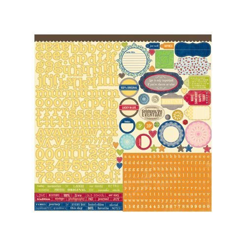 Jillibean Soup - Grandma's Lima Bean Soup Collection - 12 x 12 Cardstock Stickers