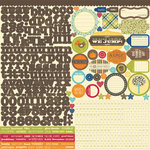 Jillibean Soup - County Pumpkin Chowder Collection - 12 x 12 Cardstock Stickers
