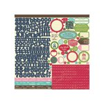 Jillibean Soup - Winter Tortellini and Spinach Soup Collection - 12 x 12 Cardstock Stickers