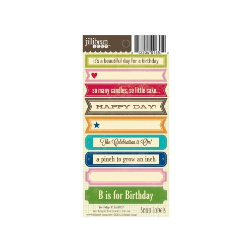 Jillibean Soup - Cardstock Stickers - Soup Labels - Birthday II