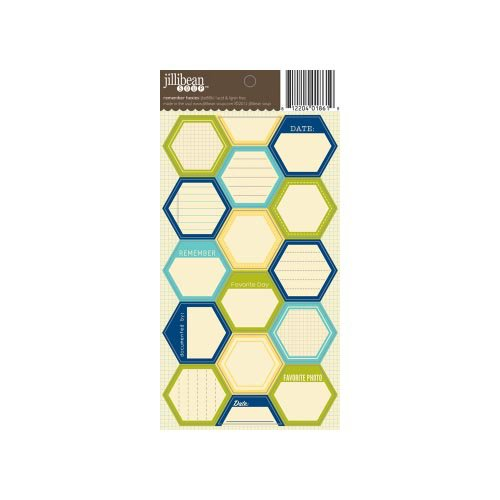 Jillibean Soup - Cardstock Stickers - Hexagon - Remember