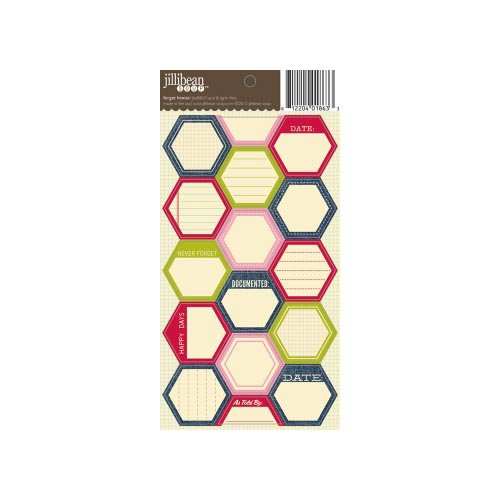 Jillibean Soup - Cardstock Stickers - Hexagon - Forget