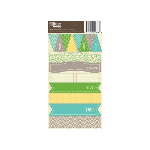 Jillibean Soup - Cardstock Stickers - Banner Bites - Cherish