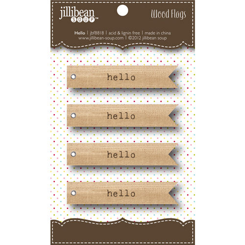 Jillibean Soup - Wooden Flags - Hello