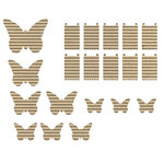 Jillibean Soup - Corrugated Shapes Collection - Butterflies