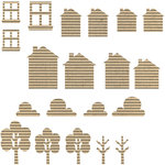 Jillibean Soup - Corrugated Shapes Collection - Houses