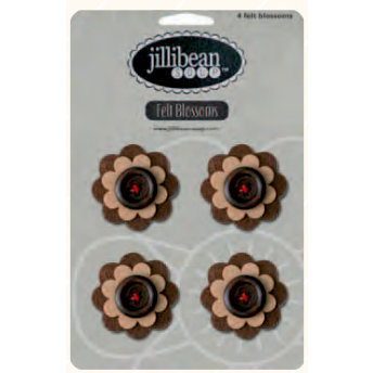Jillibean Soup - Felt Flowers - Brown