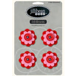 Jillibean Soup - Felt Flowers - Red