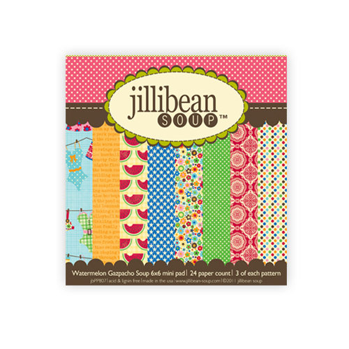 Jillibean Soup - Watermelon Gazpacho Collection - 6 x 6 Paper Pad