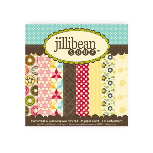 Jillibean Soup - Homemade 6 Bean Soup Collection - 6 x 6 Paper Pad