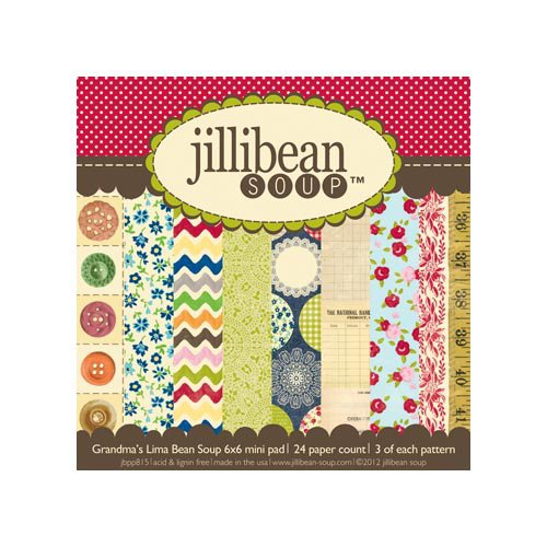 Jillibean Soup - Grandma's Lima Bean Soup Collection - 6 x 6 Paper Pad