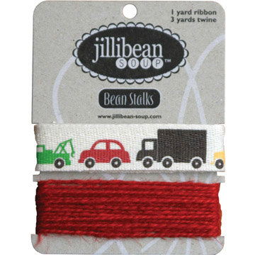 Jillibean Soup - Bean Stalks Collection - Ribbon - Cars