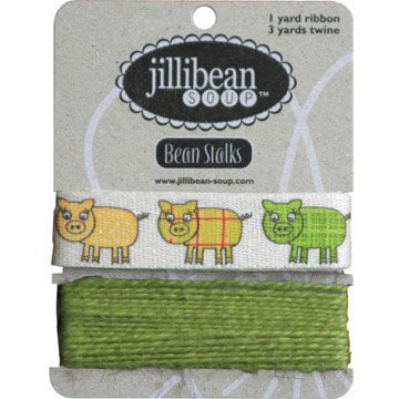 Jillibean Soup - Bean Stalks Collection - Ribbon - Pigs