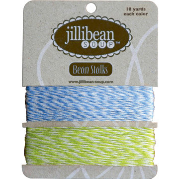 Jillibean Soup - Bean Stalks Collection - Bakers Twine - Blue and Green