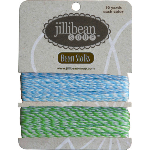 Jillibean Soup - Bean Stalks Collection - Bakers Twine - Turquoise and Green