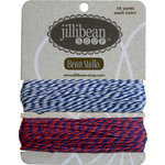 Jillibean Soup - Bean Stalks Collection - Bakers Twine - Navy and Red