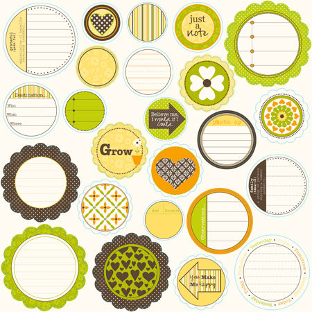 Jillibean Soup - Dutch Mustard Soup Collection - Mixed Cardstock Pieces - Journaling Sprouts