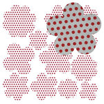 Jillibean Soup - Canvas Flowers - Red Polkas, CLEARANCE