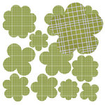 Jillibean Soup - Canvas Flowers - Green Grid