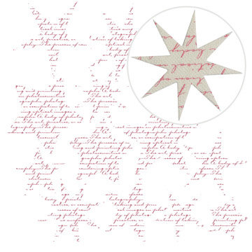 Jillibean Soup - Canvas Stars - Red Script
