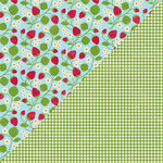 Jillibean Soup - Coconut Lime Soup Collection - 12 x 12 Double Sided Paper - Kaffir Lime Leaves