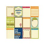 Jillibean Soup - County Pumpkin Chowder Collection - 12 x 12 Double Sided Paper - Country Pumpkin Bite Size Bits