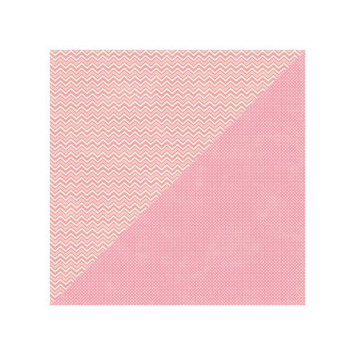Jillibean Soup - Soup Staples II Collection - 12 x 12 Double Sided Paper - Pink Salt
