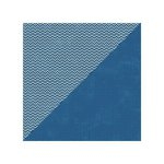 Jillibean Soup - Soup Staples II Collection - 12 x 12 Double Sided Paper - Navy Salt