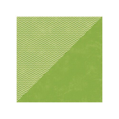 Jillibean Soup - Soup Staples II Collection - 12 x 12 Double Sided Paper - Green Salt
