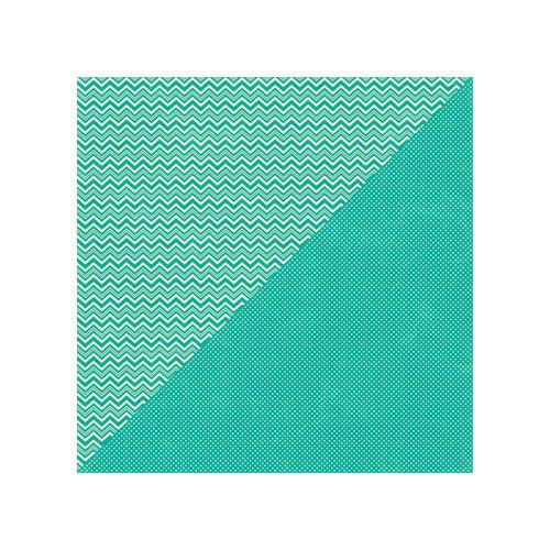 Jillibean Soup - Soup Staples II Collection - 12 x 12 Double Sided Paper - Turquoise Salt