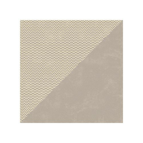 Jillibean Soup - Soup Staples II Collection - 12 x 12 Double Sided Paper - Gray Salt