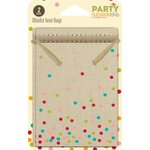 Jillibean Soup - Party Playground Collection - Muslin Treat Bags - Multi Color Dot