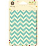 Jillibean Soup - Party Playground Collection - Favor Bags - Rock Candy Blue Chevron