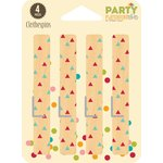 Jillibean Soup - Party Playground Collection - Clothespins - Multi Triangle